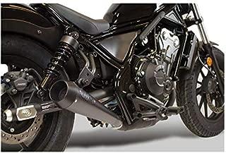 M4 Performance Exhaust ALL BLACK RETRO-DRAG SLIP-ON HO1012 compatible with Honda 2017-19 Rebel CMX300 CMX500
