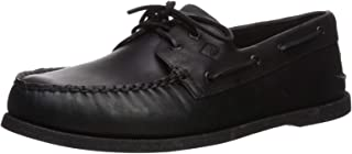 Mens A/O 2-Eye Boat Shoe, Black, 13