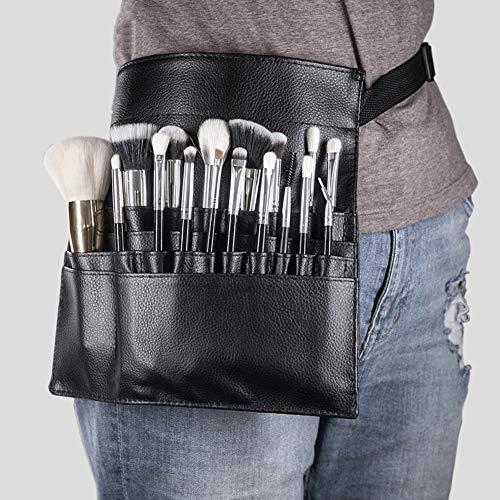 Saniswink Trousse de maquillage professionnelle en similicuir pour pinceaux de maquillage