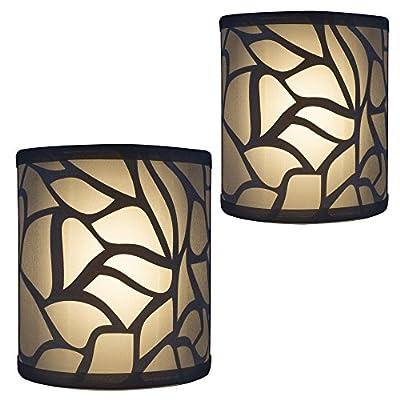 RV Light Fixture | LED 12V | Decorative RV (Camper) Bathroom Wall Light | Sconce Lighting | 2 Pack by RecPro