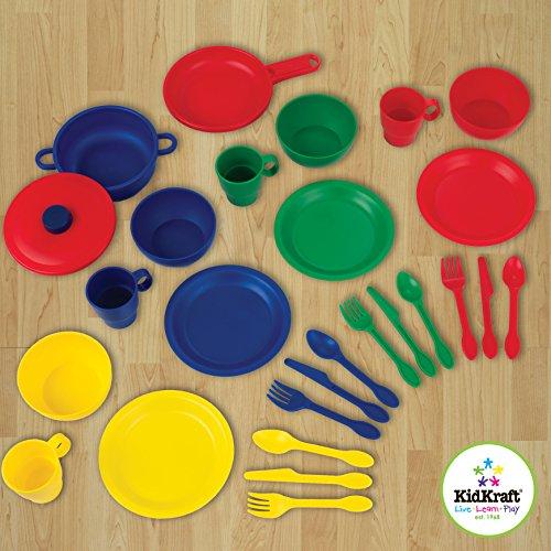 "KidKraft 27Piece Cookware Playset - Primary, 6.5"" x 6.5"" x 6.5"", Multicolor"
