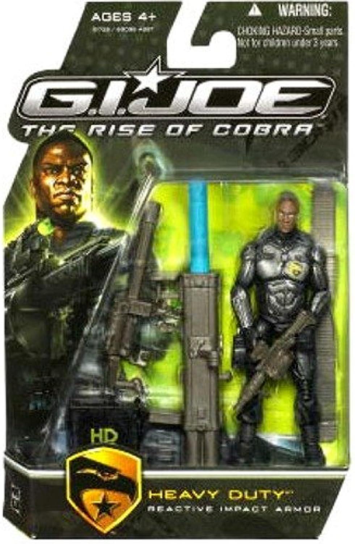 G.I. Joe The Rise of Cobra Movie Action Figure Heavy Duty (Reactive Impact Armor) 3.75 Inch by G. I. Joe
