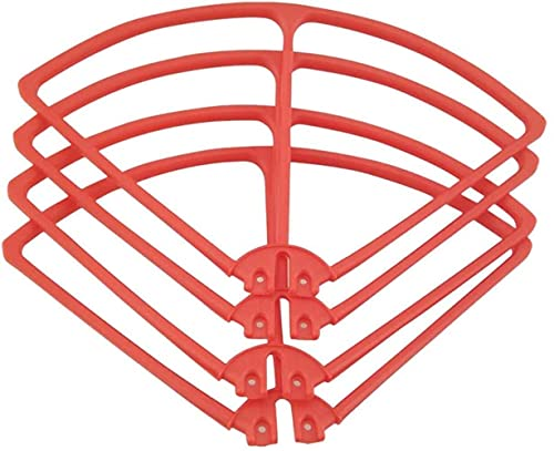 DNKKQ Set di Protezioni paraurti per elica Drone per quadricottero RC Syma X8C X8W X8G X8HW, 5 Colori tra Cui Scegliere , Accessori di Ricambio RC ( Colore : Rosso ) Stabilità