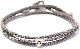 Wakami Family Friendship Bracelet | Handmade Wrap Bracelet | Initial Charm String Bracelets Mother, Father, Brother, Siste...