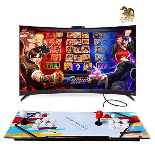 ZQYR GAME# Console de Jeux vidéo Arcade 2350 en 1 Console de Jeux vidéo 1080P HD Retro, Commandes de Jeu à 2 Joueurs Double Stick Arcade Console Machine avec HDMI/VGA/USB, Model: ZY-6668