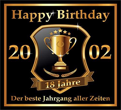 RAHMENLOS 3 St. Aufkleber zum 18. Geburtstag: 2002 der Beste Jahrgang Aller Zeiten - Selbstklebendes Flaschen-Etikett. Original Design