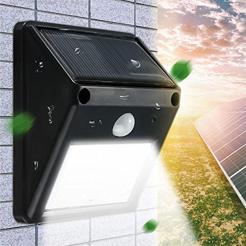 Jiguoor étanche 12 LED 2835 SMD LED LAMPE SOLAIRE d'extérieur détecteur de mouvement PIR Énergie solaire lampe Décoration de jardin lampe murale