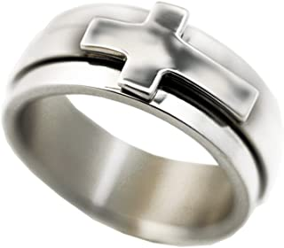Forgiven Jewelry Spinner Cross Ring