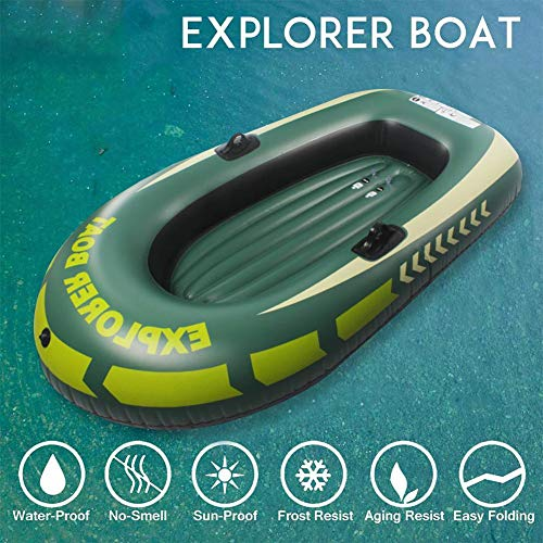 Kayak Paddles, Inflatable Kayak Boat Raft for 1/2 Person, Canoe Fishing Boat with Double Valve for Adults Fishing Max Loading 90kg