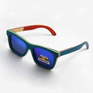 Gafas De Sol,Nueva Patineta Madera Verano Gafas Gafas Gafas con Lentes Polarizadas Libre Verde