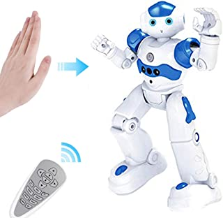 ZMZS RC Robot Toy for Kids Intelligent Programmable Remote Control Robot Rechargeable for Boys with Infrared Controller, Gesture Sensing Robot Kit, Singing Dancing Smart Robot Gift for Kids