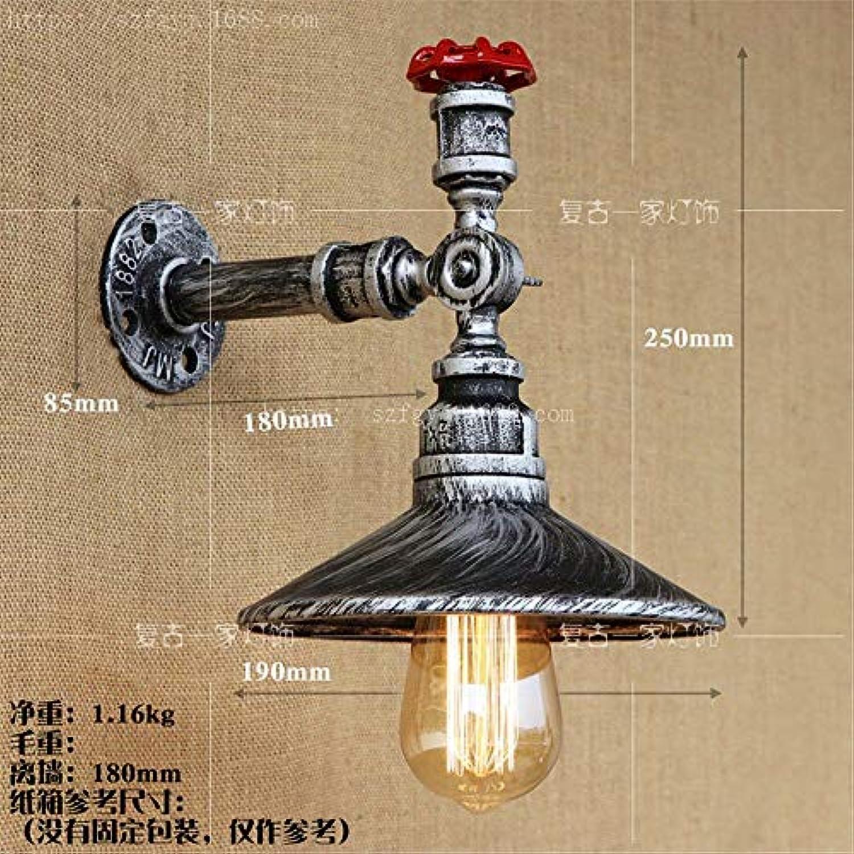 Reeseiy American Retro Iron Art Wasserpfeife Wandleuchte Lampe Wandbeleuchtung Wandleuchte Edison Lampe E27 Sockel Haus Bar Restaurants Club Dekoration (110 220V Nicht Im Lieferumfang Enthalten)
