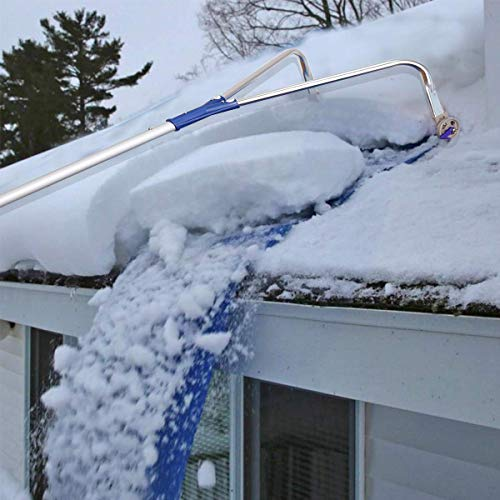 Best Prices! XSLLZM Roof Snow Rake Removal Tool 20 Ft with Adjustable Telescoping Handle Will Reliev...