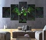 Marco de sala de estar pintura impresa en HD 5 piezas imáge