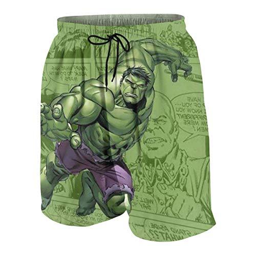 NDNG Badehose Cute Hulk Quick Dry Beach Board Shorts Badeanzug mit Seitentaschen für Teen Boys