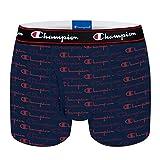 Champion Boxer Coton Rochester Ropa Interior, Impresión Marina, Large para Hombre