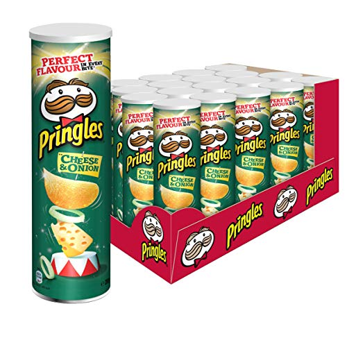 Pringles Cheese & Onion Chips | 19er Vorratspackung |19x200g)