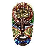 Máscara de madera étnica decorativa, estatua africana tribal Totem aborigen, África, 19 cm pintada