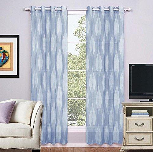 KKYLOVEJ 2-teilige kleine frische Vorhänge für Wohnzimmer , 3# , 135x220cm