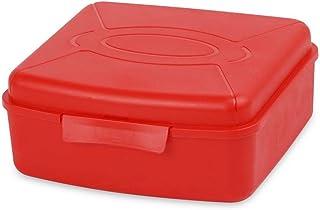 لانش بوكس مربع بلاستيك من مينترا، 150 مل - احمر