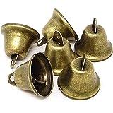 Vintage Glocke Bronze Vintage Glocken Vintage Kleine Glocke Glocken Kupfer Vintage Bronze Glocke Glocken Behänge Glöckchen Schellen 20 Stücke DIY Handgemachte Handwerkliche Dekoration Zubehör