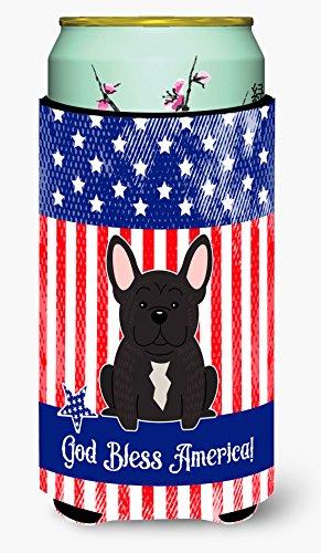Caroline tesoros del bb3004tbc patriótico EE. UU. Francés Bulldog Brindle Tall Boy bebidas aislante jarrón, alto Boy, multicolor