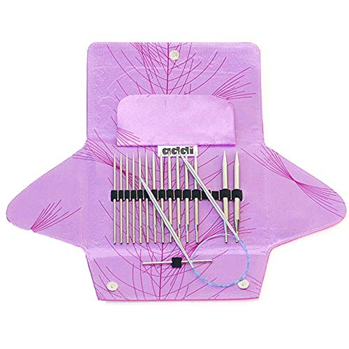 addi Click Rocket Lace Long Tip Interchangeable Circular Knitting Needle System with Exclusive Blue Cords