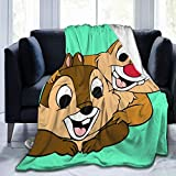 WUKON Super-Soft Flannel Fleece Chip n Dale Blanket Suitable for Sofa Micro Fleece Blankets for Adults and Children Bed Blankets 50' x40