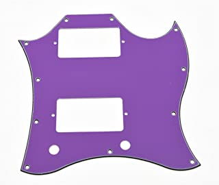 KAISH American Standard SG Guitar Full Face Pickguard fits USA Gibson SG Special Guitar Purple 3 Ply