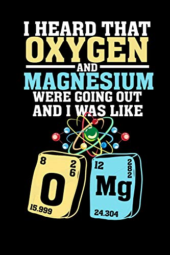 I heard that Oxygen and Magnesium were going out and i was like OMG: 6x9 checkered notebook, 120 Pages, Composition Book and Journal, funny gift for science nerds and chemistry majors as lab notebook