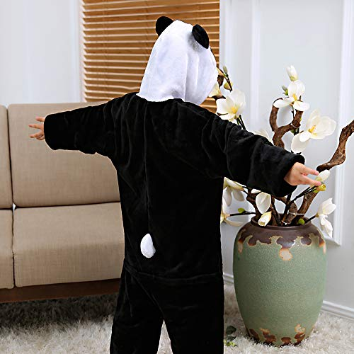 ALBRIGHT Kinder Overall Cosplay Cartoon Kostüm Panda, Tier Onesie Nachthemd Schlafanzug Kapuzenpullover Nachtwäsche für Weihnachten Halloween Karnival Party