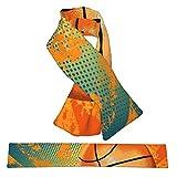 Bufanda de forro polar suave y cálida para el cuello con lazo cruzado, mullida impresión 3D retro de baloncesto bufandas de invierno para niñas, niños, mujeres y hombres