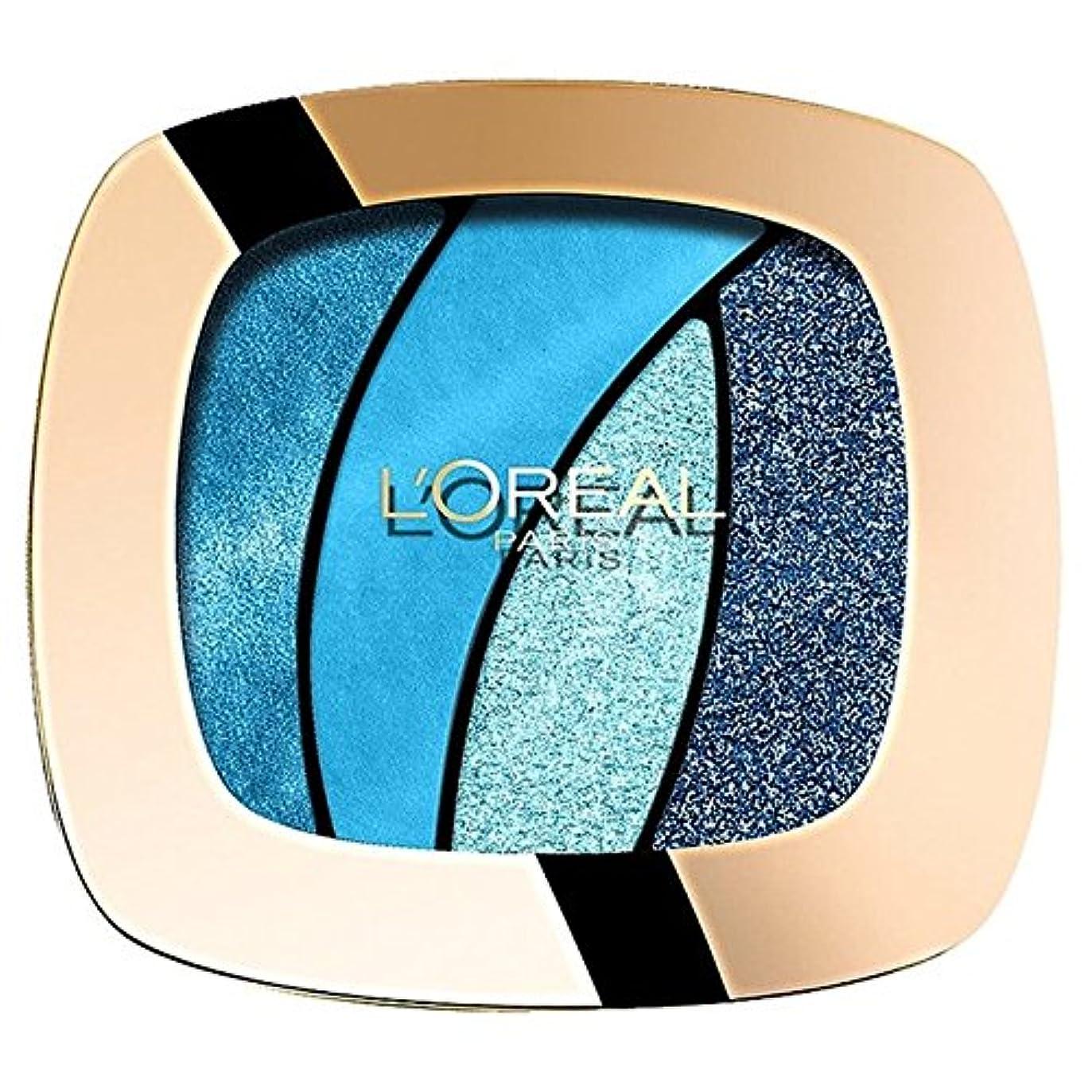 カップコメンテーター血まみれのロレアルパリカラーリッシュクワッド、スペル15 x4 - L'Oreal Paris Color Riche Quad, Turquose Spell S15 (Pack of 4) [並行輸入品]