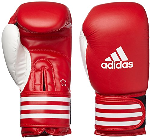 adidas Ultima Boxing Gloves for Traning Cow Leather (RED/White, 16oz)