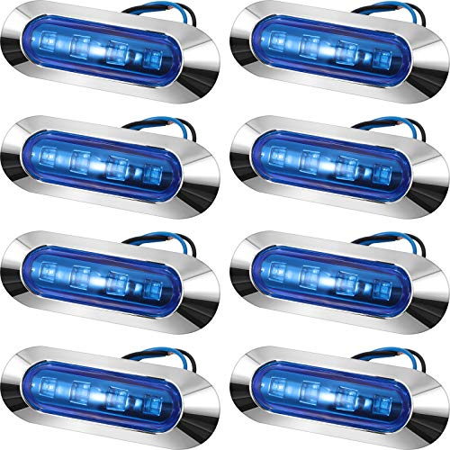 8 Pieces Waterproof Boat Navigation Lights Marine Boat Lights Courtesy