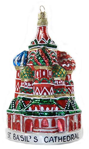 Russia Moscow Saint Basil's St. Basil Cathedral Red Square Russian Polish Glass Christmas Tree Ornament Travel Souvenir