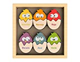 BeginAgain Cat Family Color Names Puzzle - Bilingual Wooden Colors - 2 and Up