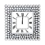 Orologio perle argento da tavolo, 50x50x6,5 cm Argento
