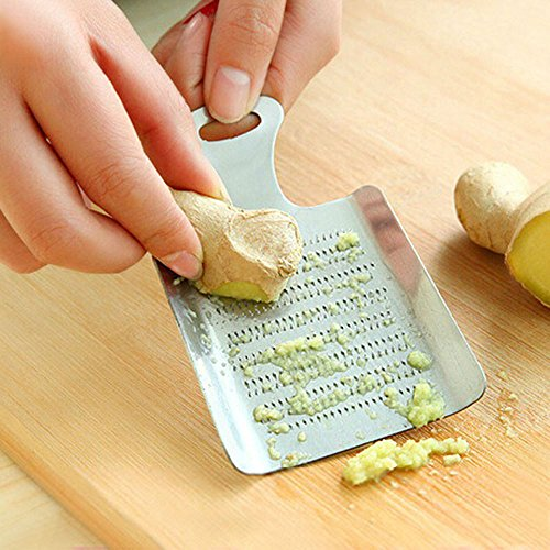 Unmengii Manual Lemon Zester Kitchen Tool Press Device Garlic Press Crusher Ginger Grater Garlic Grater Vegetable Lemon Spice Grinder