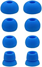 JNSA Blue Replacement Earbud Tips for Beats Powerbeats3 Wireless in Ear Headphones, 4 Pairs with 4 Size Options, Flash Blue