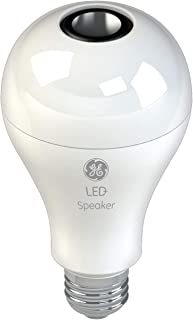 GE Lighting 93100352 LED+ Speaker Indoor A21 Light Bulb, Bluetooth Enabled, Link up to 10 Units 60-Watt Replacement A-Line, Soft White