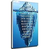 Tankaa Iceberg of Success Poster su tela, motivo paesaggio, motivo paesaggio, stampa nordica, immagine da parete per soggiorno, 50 x 75 cm, senza cornice