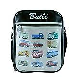BRISA VW Collection - Volkswagen Furgoneta Hippie Bus T1 Van Bolso de hombro de polipiel (PU), Bolsa bandolera Vintage, Accesorio de moda para Viaje/Regalo/Souvenir (Vehículos especiales/Multicolor/L)