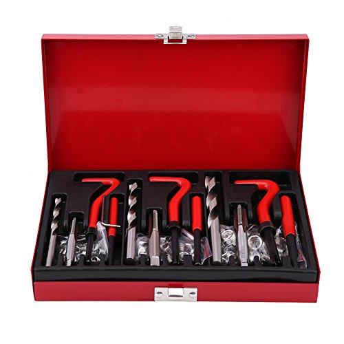 Zerone Kits de Reparación de Roscas, 88 piezas Juego de Piezas para Taladrar Grifo M6 M8 M10