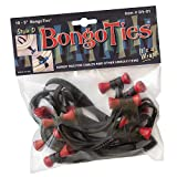 """BongoTies RED & BLACK""""Lava"""" Bongo Ties ~ 10 Pack""""Style-D"""" ~ HANDY TIES FOR CABLES AND OTHER UNRULY ITEMS"""