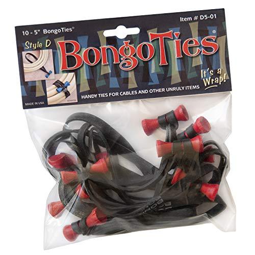 BongoTies D5-01-R Kabelbinder Style D mit roter Spitze, 10 Stück, 12,7 cm