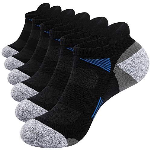 TANSTC Calcetines para Hombre y Mujer, Calcetines cortos antiampollas para deporte ,Calcetines para baloncesto running ciclismo trekking yoga Runing para, Térmicos, Transpirables Anti-rozaduras