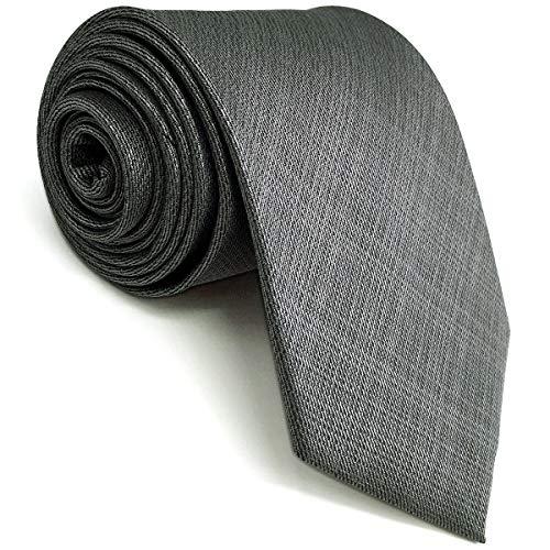 Shlax&Wing Color Sólido Gris Corbatas Para Hombre Traje de negocios Corbata Flaca