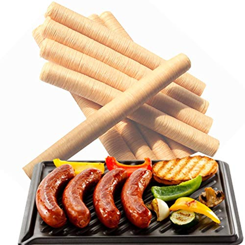 Wursthülle Kunstdarm aus Sojaprotein Hüllen für Wurst Kunstdarm Schweine- und Schafdärme zur Herstellung von Bratwurst, Trockenwurst, Wurst, 1pcs Hot Dog 14M 26MM