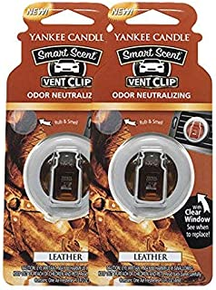Yankee Candle Leather Vent Clip, 2 Pack